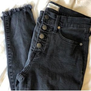 """Madewell 9"""" high rise black jeans"""